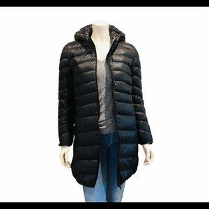 Quilted Down Packable Long Puffer Coat